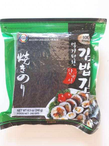 Sushi nori, feuille d'algue pour maki 100 feuilles