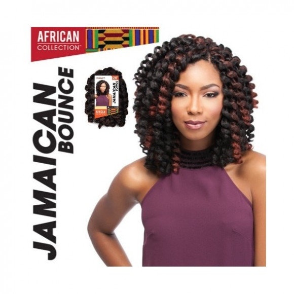 TRESSES AU CROCHET SYNTHÉTIQUES SENSATIONNEL COLLECTION AFRICAINE BOUNCE JAMAICAN 26