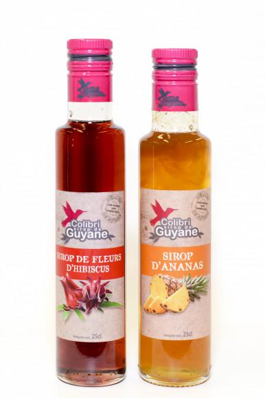 Délices de GUYANE COLIBRI SIROP DE GUYANE - ANANAS 25CL