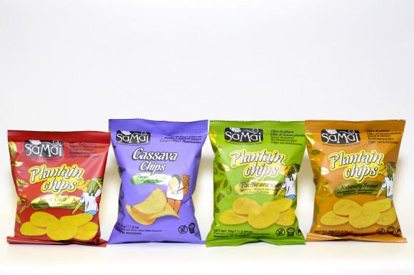 Cassava Chips SAMAI - Chips de Manioc au sel marin 57G