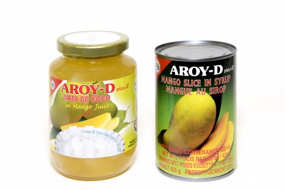 AROY-D  - Dés de COCO au jus de mangue - 450G