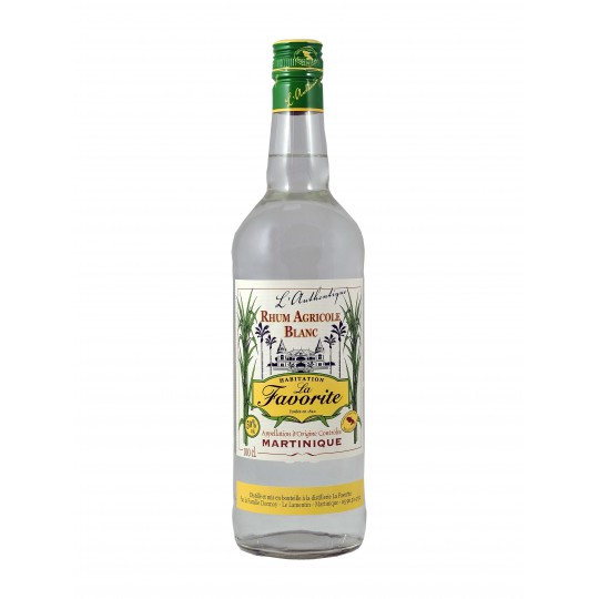 Rhum blanc agricole L'Authentique 1L 50° La Favorite